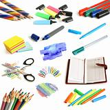 Office and school supplies collection