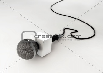 Realistic 3d News Broadcast Microphone