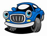 Funny blue car