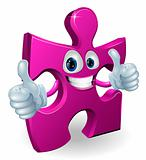 Jigsaw piece cartooon man