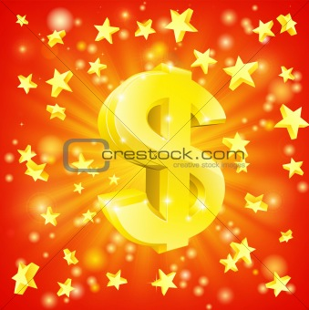 Dollar money star concept