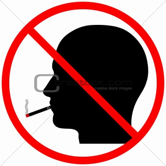No Smoking Head Silhouette