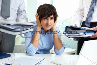 Perplexed secretary