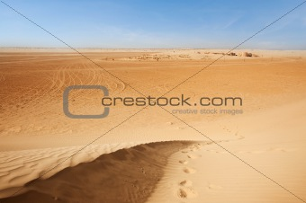 Sand dunes in Sahara
