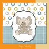 delicate greeting card with elephant