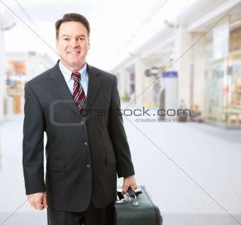 Business Traveler in Airport