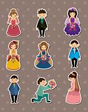 Wedding ceremony - bride and groom stickers