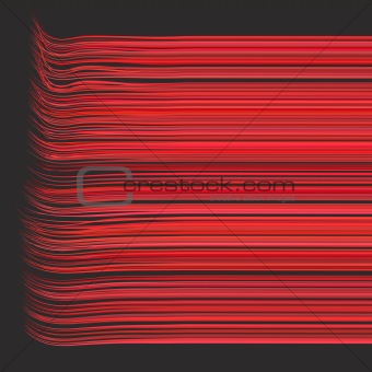 3d render multiple wavy lines in different red pink