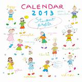 calendar 2013 kids cover