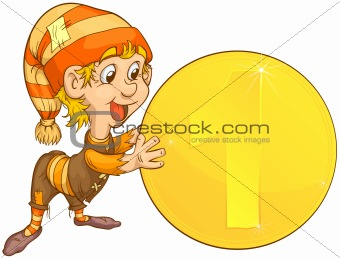 gnome and coins
