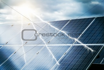 abstract concept of power plant using renewable solar energy