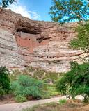 Cliff dwellings like Montezuma Castle National Monument  provided safety