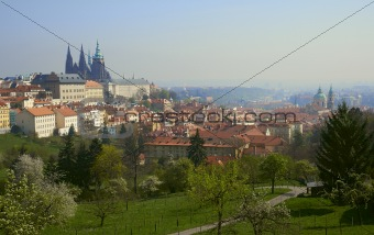 Dawn over Prague