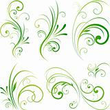 Spring floral decorative swirls