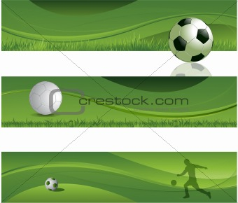 Soccer design banners