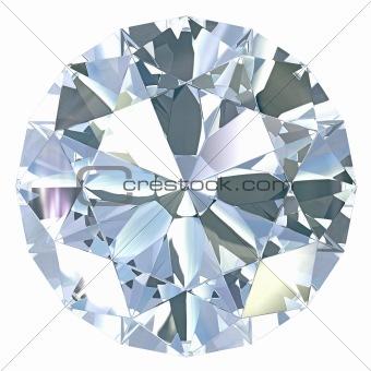 Round, old european cut diamond