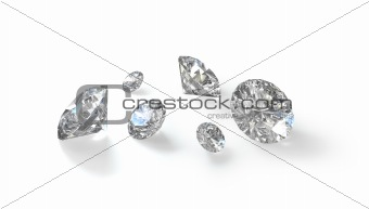 Few old european cut round diamonds