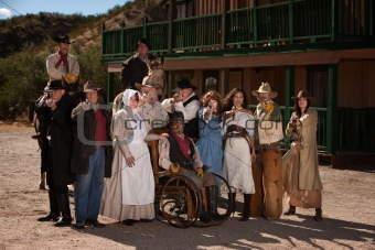 Old West Townspeople
