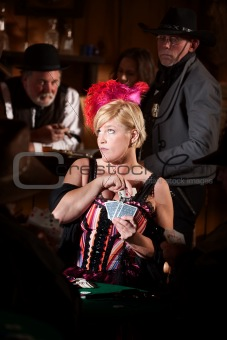 Sneaky Card Playing Prostitute