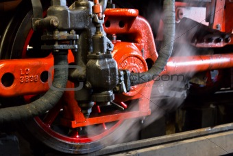 forgiveness of steam from the steam line at the wheel