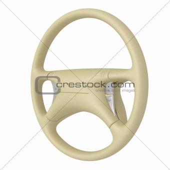 Beige steering wheel