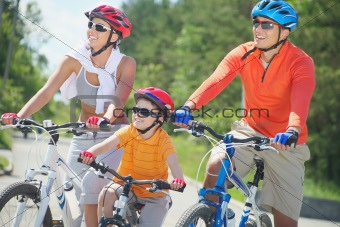 Riding on bicycles