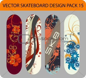 Skateboard design pack