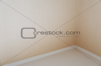 clear corner with plinth as an architectural background