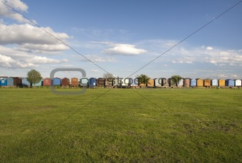 Beach Huts at Brightlingsea, Essex, England