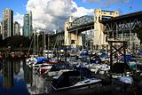 Marina on South side of Burrard Street Bridge