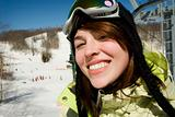 Beautiful young woman skier