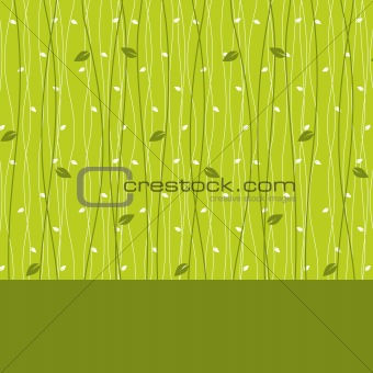 card design with leaves  seamless pattern