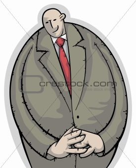 Calm and shy businessman