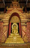 Golden Buddha in church at Phra Singh Temple
