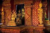 Many Buddha statue in church at  Phra Singh Temple