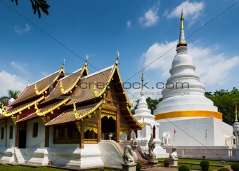 Cathedral and pagoda at Phra Singh Temple