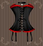 lady&#39;s black corset