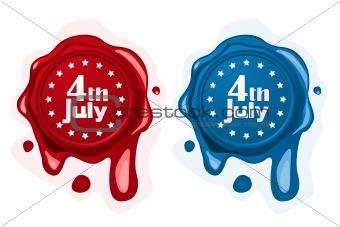 4th of July wax seals