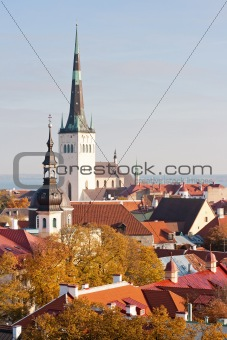 View to old Tallinn, Estonia