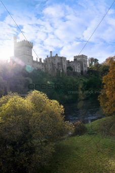 Lismore castle over the beautiful blackwater river