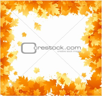 Autumn floral ornament