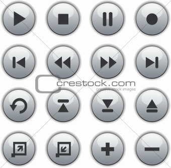 Glossy Media buttons