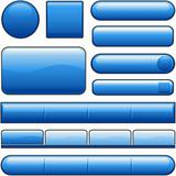 Blue Glossy website internet Media buttons