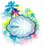 Colorful summer Tropical background
