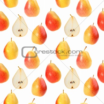 Seamless background with orange fresh pears