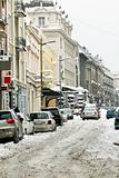 Winter Belgrade street