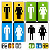 Male and Female Restrooms Vector Sign