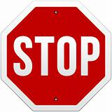 Stop Sign vector on white