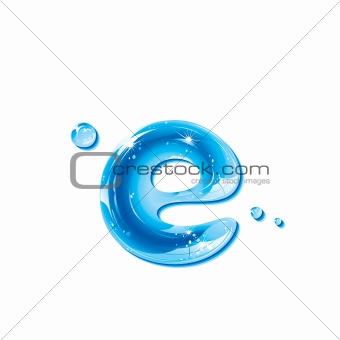ABC series - Water Liquid Alphabet - Small Letter e