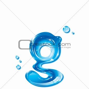ABC series - Water Liquid Alphabet - Small Letter g